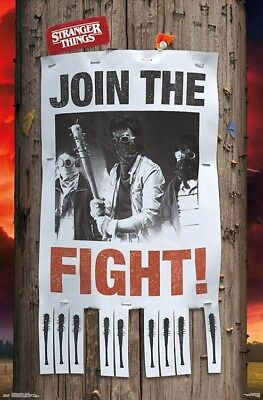 STRANGER THINGS - JOIN THE FIGHT POSTER - 22x34 - TV SERIES 16628