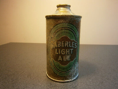 Haberle's Light Ale cone top can USBC 168-11 Tax Paid... Syracuse NY