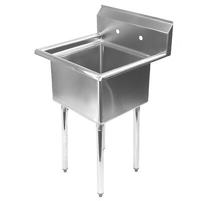 """Stainless Steel Utility Sink for Commercial Kitchen - 23.5"""" Wide"""