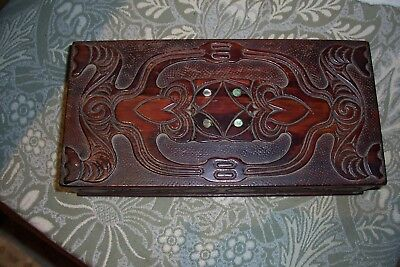 Lovely vintage carved hardwood box, New Zealand?
