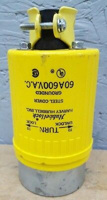 HUBBELL Hubbellock Plug HBL26419 60-Amp 60A 600V 3P 4W 26419 USED