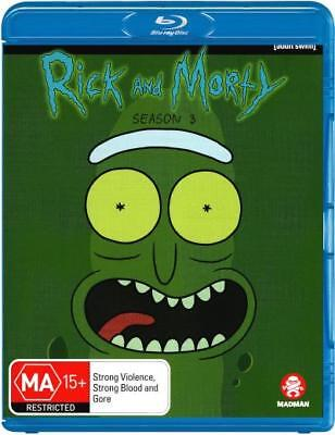 PREORDER - Rick and Morty: Season 3  - BLU-RAY - NEW Region B