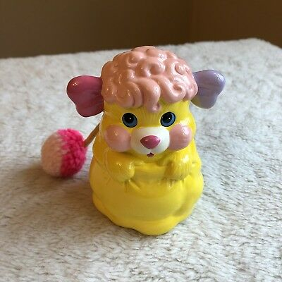 Vintage Popples Ceramic Bank Coin Pretty Darling 80s Collectible Plush Tail