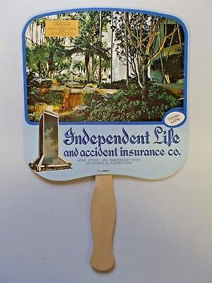 Vintage Advertising Hand Held Fan Independent Life Carolyn Motel Newport, TN
