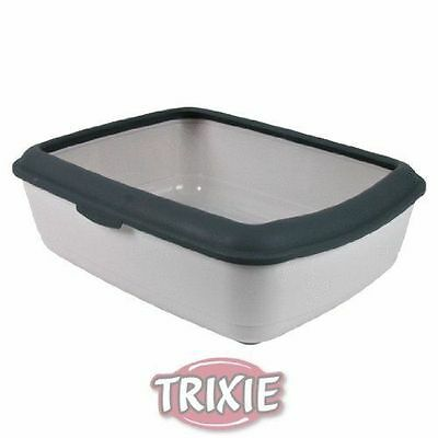 Trixie LARGE Cat Litter Tray Toilet With Rim Easy To Clean - 37 x 15 x 47 cm