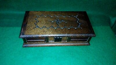Vintage Wooden Tallent of old bond street Musical Jewelery Box - reuge movement