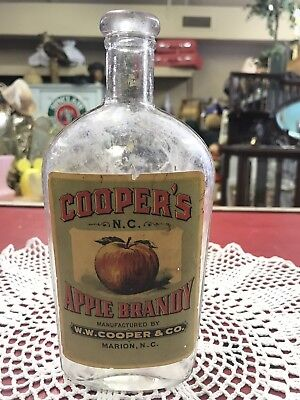 NC Whiskey WW Cooper Apple Brandy Coopers NC Marion NC NR