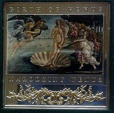 1$ Niue 2014 Masterpieces of the Renaissance Birth of Venus PP Silbermünze Top !