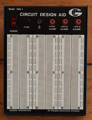 Circuit Design Aid - Breadboard with power supplies