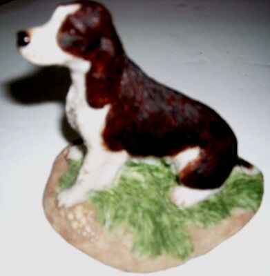 Vintage ENGLISH SPRINGER SPANIEL NewExcllntCondtn/Earl Sherwan/Cold Cast Marble
