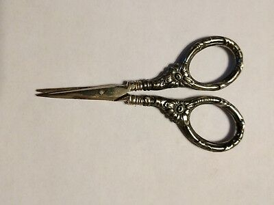 Antique Victorian Sterling Sewing Scissors Germany