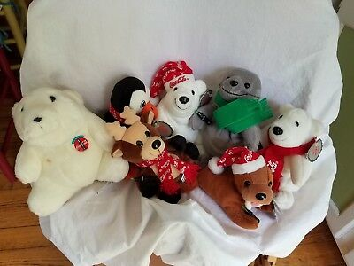 LOT OF Coca-Cola Beanbag Plush Stuffed Animals Collection!!