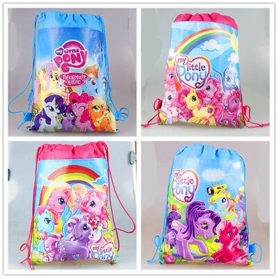 My Little Pony Girls Drawstring Bag Goody Backpack Kids Beach Party Gift Bag