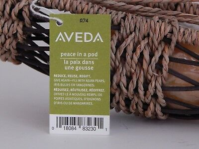 Aveda Rattan And Seagrass Basket With Five Bath Soap Spheres - NEW
