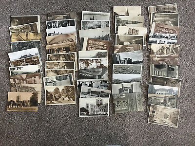 JOB LOT 50 +  MIXED Old Travel Post card cards vintage retro BULK COLLECTION RP