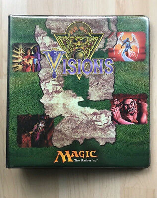 Original Rembrandt Magic the Gathering MTG Visions 3 Ring Ordner Binder Sammler