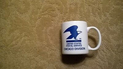 vintage collectable United States Postal coffee mug Chicago Division excellent