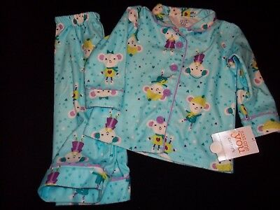 Brand New With Tag Girl Size 12 Month Carter's 2 Piece Sleepwear Very Cute