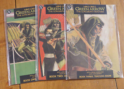 Green Arrow the Longbow Hunters #1 2 3 (DC 1987)  Mike Grell high grade set!