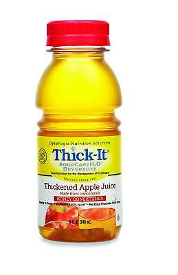 2 Pack Thick-It Thickened Honey Consistency Beverage H2O Apple Juice, 8 Oz each