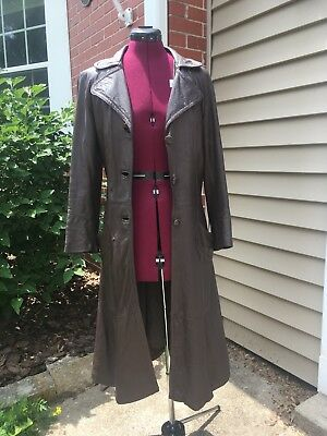 vintage leather coat womens