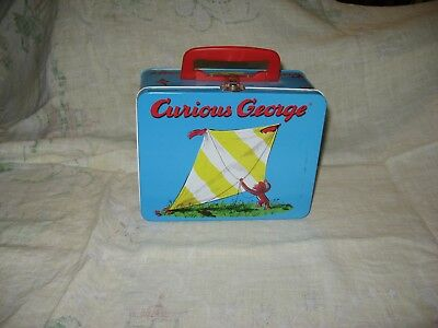 Curious George Lunchbox Style Metal Box, No Thermos