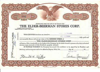 1968 The Elder - Beerman Stores Corp.  100 Shares  USA