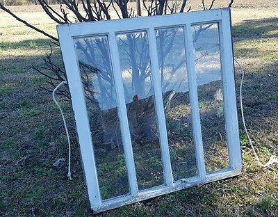 VINTAGE SASH ANTIQUE WOOD WINDOW UNIQUE FRAME PINTEREST RUSTIC 4 PANE 32x30
