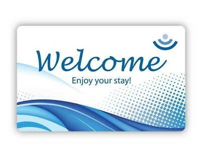 Welcome RFID Key Card Case Of 250 for hotels and motels