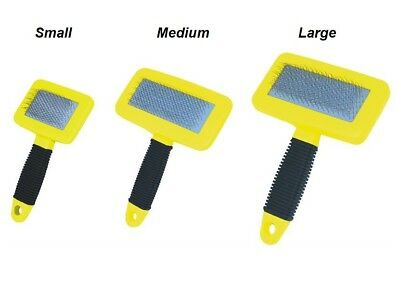 Laube Rubber Handle Dog Grooming Slicker Brush- 3 Sizes Available