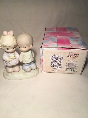 Precious Moments-You're Forever In My Heart-CUTE COUPLE  nib