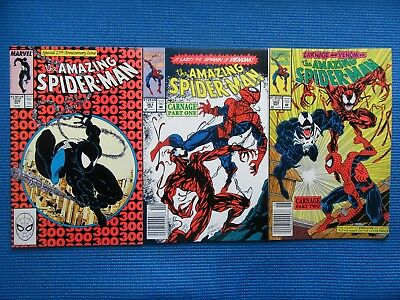 Amazing Spider-Man # 300,361,362- (Nm) - Origin & 1St Venom/carnage - High Grade