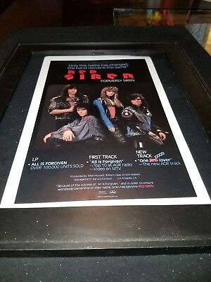 Red Siren All Is Forgiven Rare Original Radio Promo Poster Ad Framed!