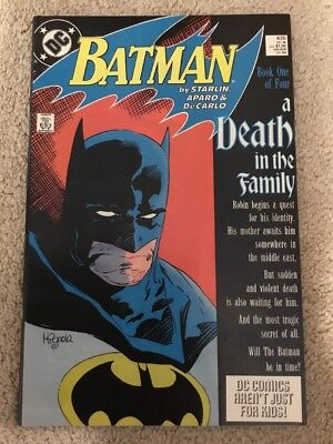 DC Batman 426 A Death In The Family Book 1 Of 4 **See Pictures**