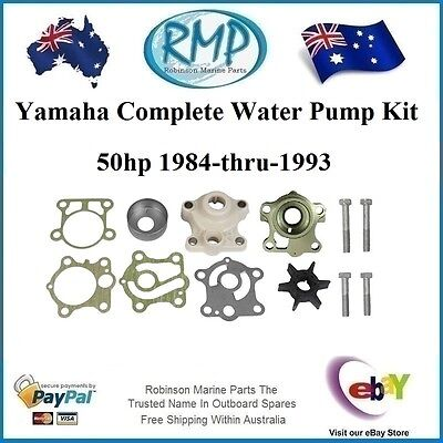 A Brand New Yamaha Water Pump Kit 50hp 1984-1993 # 6H4-W0078-00 + Both Housings
