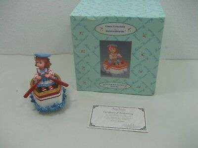 Vintage Resin Row Row Row Your Boat Music Box By Madame Alexander