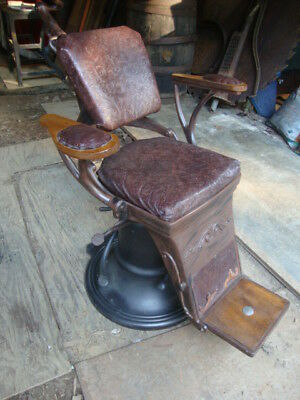 NICE Antique Dental Dentists  Barber Chair Man Cave 2 of 2