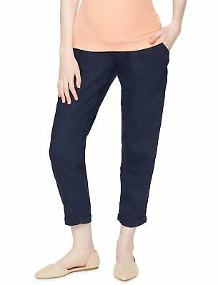 MATERNITY A pea in the pod pants Navy Blue Size XS 100% Linen