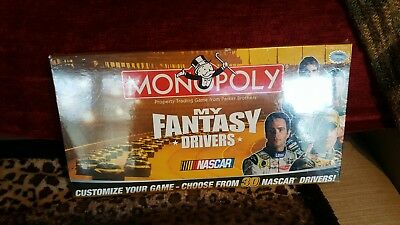 Monopoly Nascar My Fantasy Drivers board game..New in plastic