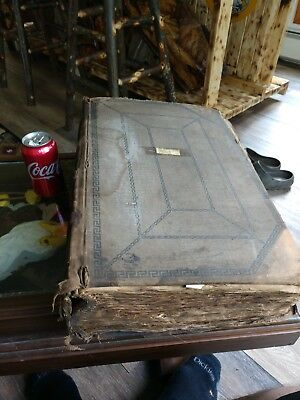 Large Old Antique Prescription Book Doctor Stub Rx Pharmacy Diary  1891-1893