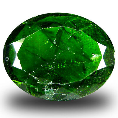 8.48 ct  Magnificent Oval Shape (16 x 13 mm) Green Chrome Diopside Gemstone