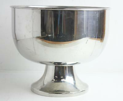 """Large 11"""" x 13"""" Silver Plated Pedestal Champagne Cooler Made in Italy"""