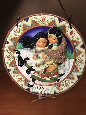 "Enesco Friends of the Feather ""Love Reins"" Couple on Horse Decorative Wall Plate"