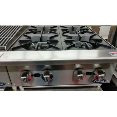 """New 24""""  4 Burner Heavy Duty Commercial Counter Top Gas Hot Plate  Nat / Lp  Gas"""