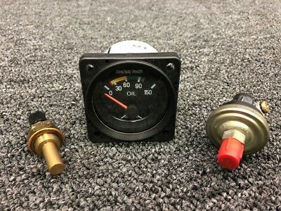 D1-211-5058 Mitchell Aircraft Prod Oil Pressure Indicator W/ Probes