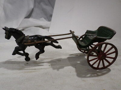 g Wilkins Cast Iron Horse Drawn Carriage Buggy Doctor Cart