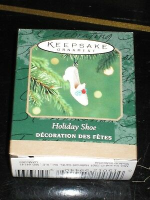 Hallmark 2001 Holiday Shoe  Miniature Keepsake Ornament