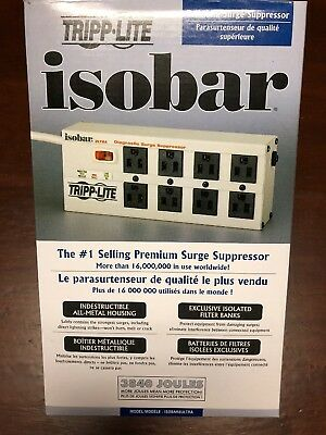 New Tripp Lite Isobar Surge Protector Metal 8 Outlet 12' Cord 3840 Joules