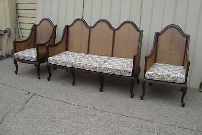 59166   Antique 3 piece Sofa with 2 Chair s  Parlor Set