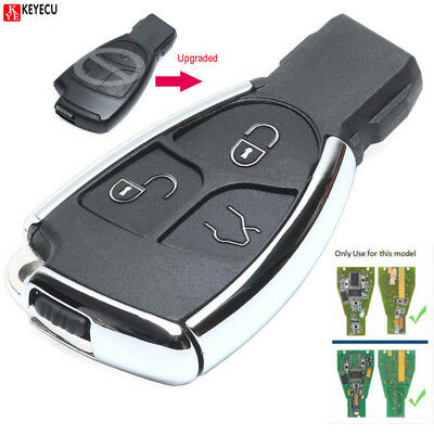 Modified New Smart Remote Key Shell Case Fob 3Button for Mercedes-Benz CLS C E S